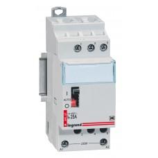Contacteur domestique silencieux - 230 V~ Lexic - 2P - 400 V~ - 25 A - 3F
