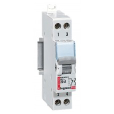 Interrupteur inverseur Lexic - interrupteur NO + NF - 250 V~ - 20 A - 1 mod