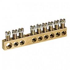 Bornier de répartition - nu à visser - 1 connexion 6 à 25 mm² - L. 45 mm