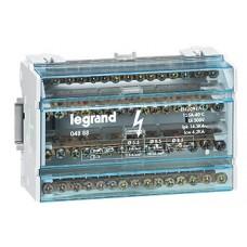 Répartiteur modulaire monobloc Lexic - 4P - 125 A - 15 connexions - 8 modules