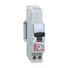 Disjoncteur magnéto-therm DX 6000 - Lexic auto - 1P+N - 230 V~ - 32 A - courbe C Legrand