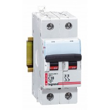 Disjoncteur magnéto-therm DX 6000 - Lexic à vis - 2P - 230/400 V~ - 6 A - courbe C Legrand