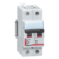 Disjoncteur magnéto-therm DX 6000 - Lexic à vis - 2P - 230/400 V~ - 16 A - courbe C Legrand
