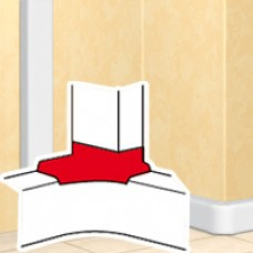Dérivation d'angle - DLP mono 50x105 - blanc