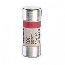 Cartouche domestique cylindrique - 10,3x25,8 mm - avec voyant - 10 A