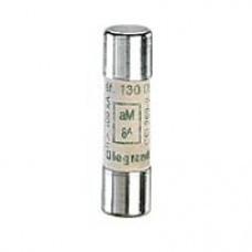 Cartouche industrielle cylindrique - aM - 10x38 mm - sans voyant - 2 A