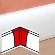 Angle intérieur - pour plinthe Céliane finition plâtre 112x18 mm