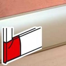 Sabot droit - pour plinthe Céliane finition titane 112x18 mm