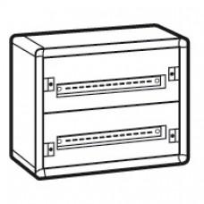 Coffret distribution métal XL3 160 - tout modulaire - 2 rangées - 450x575x147