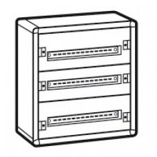Coffret distribution métal XL3 160 - tout modulaire - 3 rangées - 600x575x147