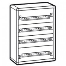 Coffret distribution métal XL3 160 - tout modulaire - 4 rangées - 750x575x147