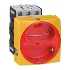Interrupteur sectionneur rotatif complet - encastré cadenassable Ø22 - 3P - 25 A