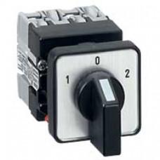 Mini-commutateur - inverseur avec position arrêt - 4P - 8 contacts -fixation Ø22