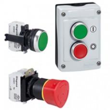 Osmoz compo - bouton tournant lum - manette - 2 posit. fixes - 45° - rouge -IP66