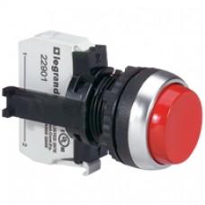 Osmoz complet non lum à impulsion - dépassant IP66 Ø22 - rouge
