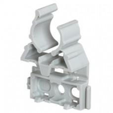 Lyre pour tube IRL Ø40 - gris - fixation par cloueur type Pulsa