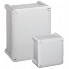 Boîtier industriel plastique - IP66 IK08 - RAL 7035 - 270x170x86 - couv opaque