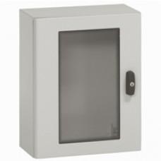 Coffret métal Atlantic - IP66 IK10 - RAL 7035 - 1000x800x300 - porte vitrée