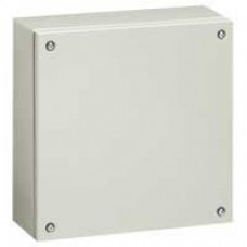 Boîtier industriel Atlantic métal carré - IP66-IK10 - 150x150x80mm - RAL 7035