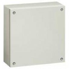 Boîtier industriel Atlantic métal carré - IP66-IK10 - 400x400x120mm - RAL 7035