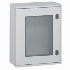 Coffret polyester Marina - IP66 IK10 - RAL 7035 - 610x400x257 mm - porte vitrée