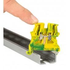 Bloc jonction Viking 3 - pour cond de protect pied métal - rail sym - pas 5
