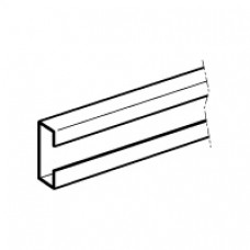 Barre en C - 40x20 mm - section 265 mm² - 800/630 A admissibles - L. 1780 mm