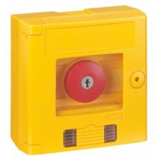 Coffret de sécurité ''bris de glace'' - coup de poing - jaune + voyant - saillie