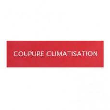 Etiquettes autocollantes (3) ''coupure climatisation pour coffrets de sécurité
