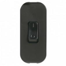 Interrupteur à bascule touche de couleur - 2 A - fil souple - noir