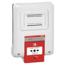 Coffret d'alarme incendie type 4 à pile