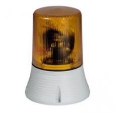 Feu tournant signalisation 1500 candelas - IP 65 - IK 10 - 230 V~ - orange