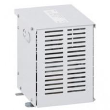 Transfo isolement triphasé protégé - prim 400 V/sec 230 V + N - 6,3 kVA - écran