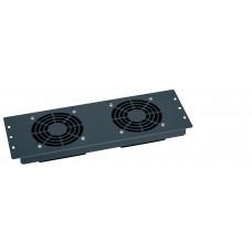 Plaque 19'' - 3 U - avec 2 ventilateurs 230 V~ - gestion thermique baies - LCS²