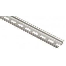 Rail symétrique avec oblongs à couper prof. 7,5 mm - L. 2 m