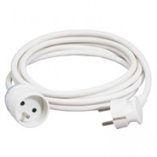 Rallonge domestique - 2P+T - 16 A - 5 m - blanc
