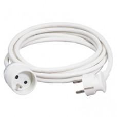 Rallonge domestique - 2P+T - 16 A - 10 m - blanc