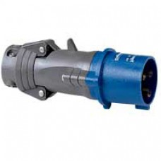 Fiche droite Hypra - IP44 - 32 A - 200/250 V~ - 2P+T - plast