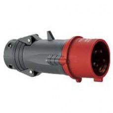 Fiche droite Hypra - IP44 - 16 A - 380/415 V~ - 3P+T - plast