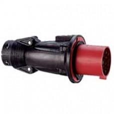 Fiche droite Hypra - IP44 - 32 A - 380/415 V~ - 3P+T - caoutchouc