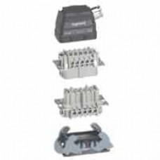 Kit connect multipôles Hypra - 16 A - 500 V - 10P+T - encastré sortie latérale