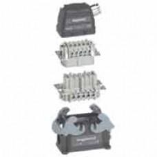 Kit connect multipôles Hypra - 16 A - 500 V - 6P+T - saillie sortie latérale