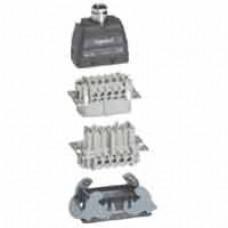 Kit connect multipôles Hypra - 16 A - 500 V - 10P+T - encastré sortie verticale