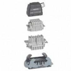 Kit connect multipôles Hypra - 16 A - 500 V - 6P+T - encastré bornes auto