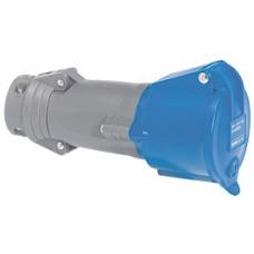 Prise mobile Hypra - IP44 - 32 A - 200/250 V~ - 2P+T - plast