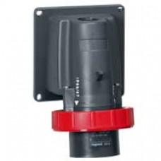 Socle de connecteur Hypra - IP66/67-55 - 32A-440V~ -conteneur frigo- 3P+T -plast