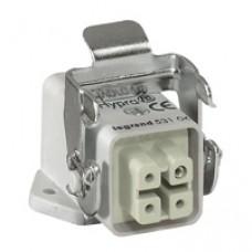 Connect multipôles Hypra - 10 A - 400 V - 4P+T - embase fem lat encast - plast