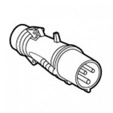 Fiche droite Hypra - IP44 - 63 A - 200/250 V~ - 2P+T - caoutchouc