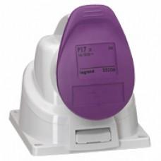 Socle saillie P17 - IP44 - 32 A - 20/25 V~ - 2P - plast