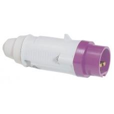 Fiche droite P17 - IP44 - 16 A - 20/25 V~ - 2P - plast
